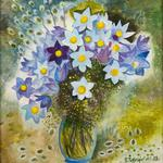 Pasque-flower. Bouquet